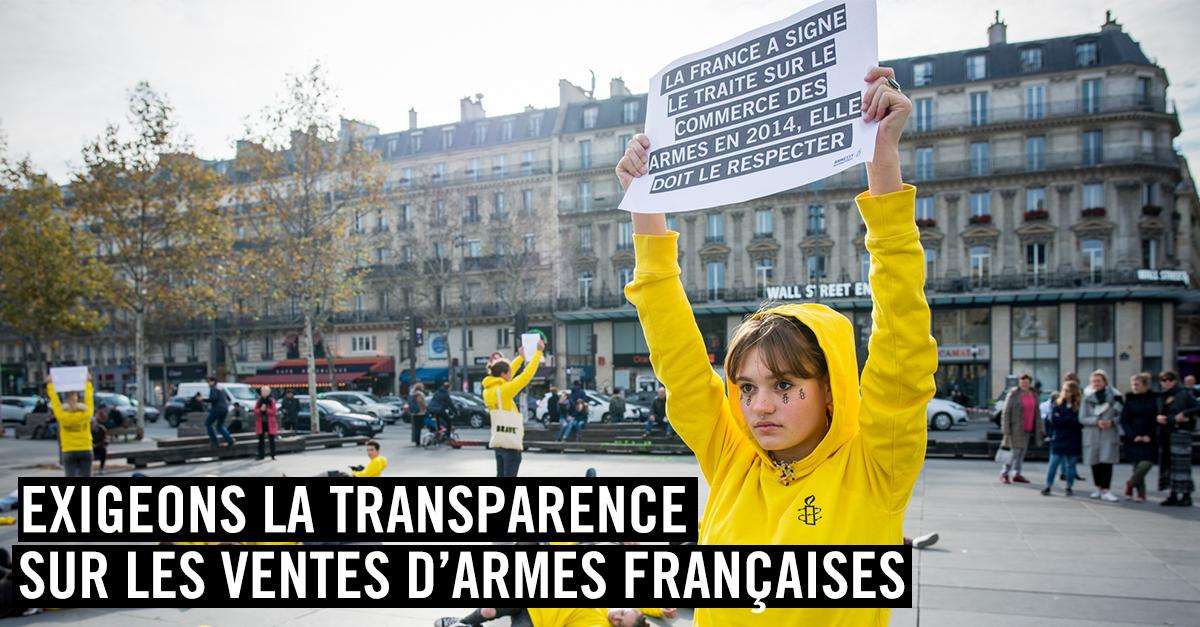 Exigeons la transparence sur les ventes d'armes françaises