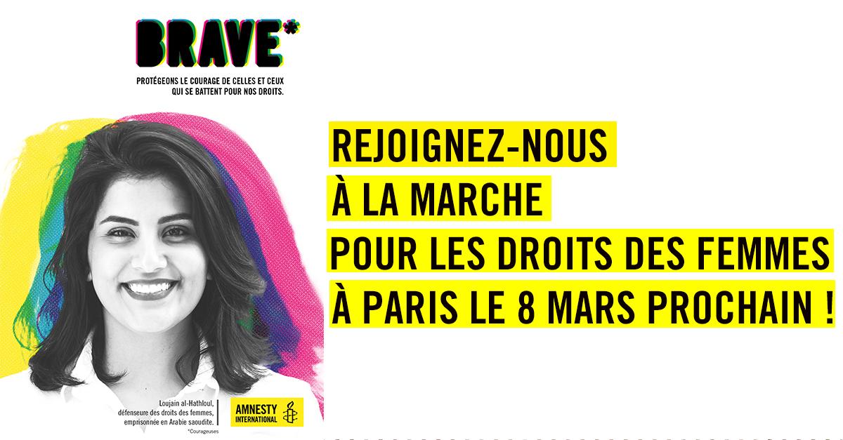 Rejoignez-nous à la marche pour les droits des femmes à Paris le 8 mars prochain !