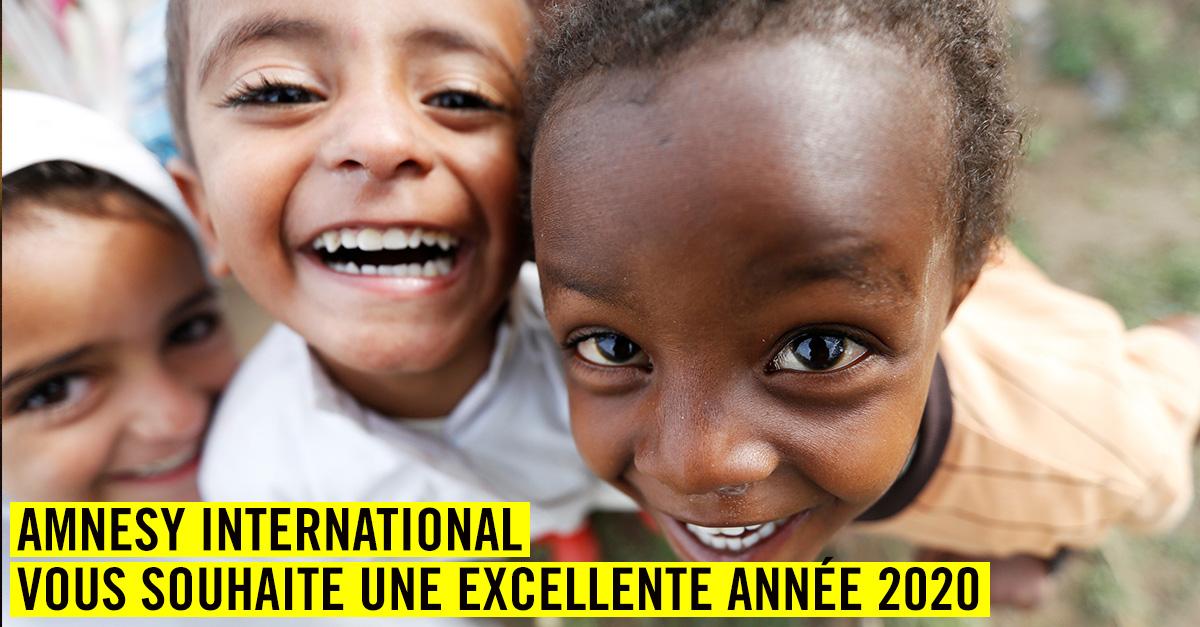 Amnesty International vous souhaite une excellente année 2020