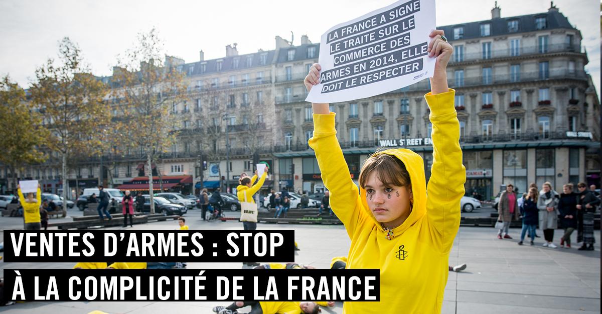 Ventes d'armes : stop à la complicité de la France